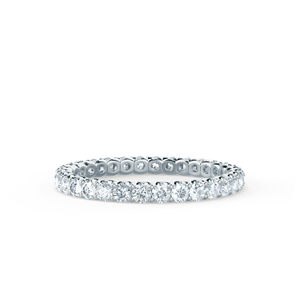 Lily Arkwright Eternity AURELIA -  Charles & Colvard Forever One Moissanite Pavé 18k White Gold Eternity Band