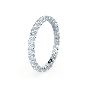 Aurelia Charles & Colvard Forever One Moissanite Pavé 18k White Gold Eternity Band