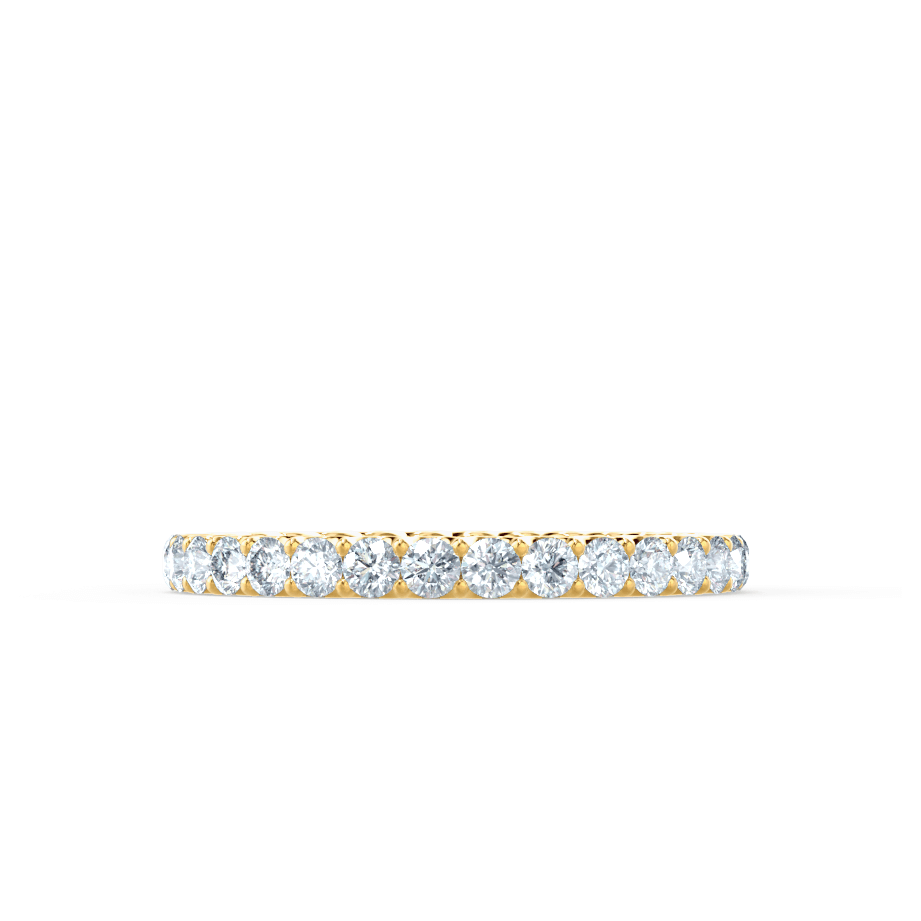 Aurelia Charles & Colvard Forever One Moissanite Pavé 18k Yellow Gold Eternity Band