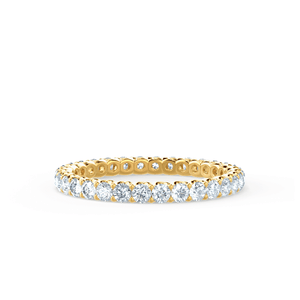 AURELIA - Charles & Colvard Forever One Moissanite Pavé 18k Yellow Gold Eternity Band