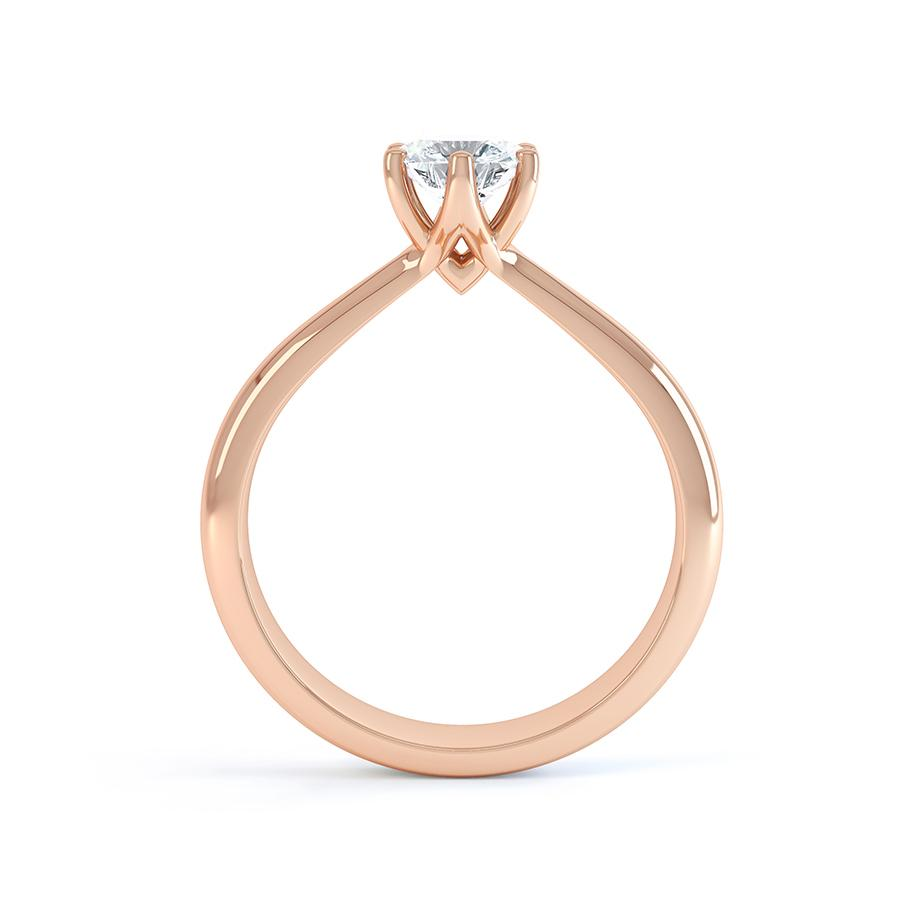 AVERY - Charles & Colvard Moissanite 18k Rose Gold Solitaire Ring