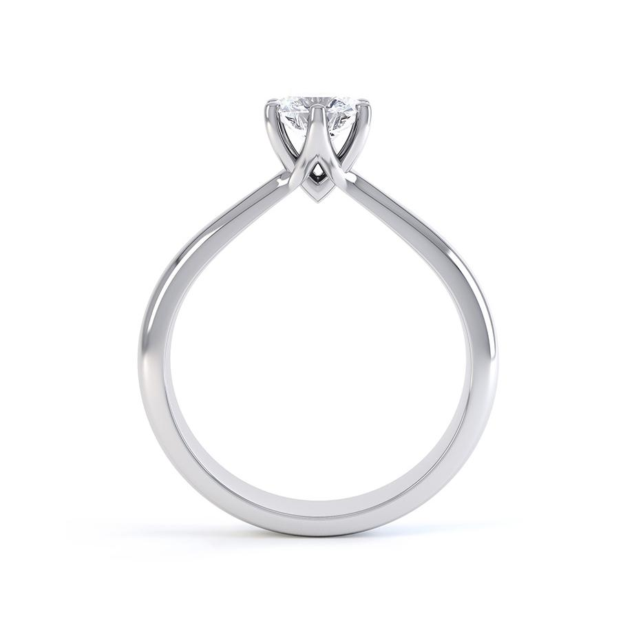 Avery Moissanite Platinum Solitaire Ring