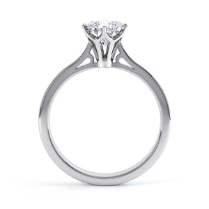 COSETTE - Premium Certified Lab Diamond 6 Claw Solitaire 18k White Gold Engagement Ring Lily Arkwright