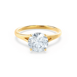 DAHLIA - Split Shank Moissanite 18k Yellow Gold Solitaire