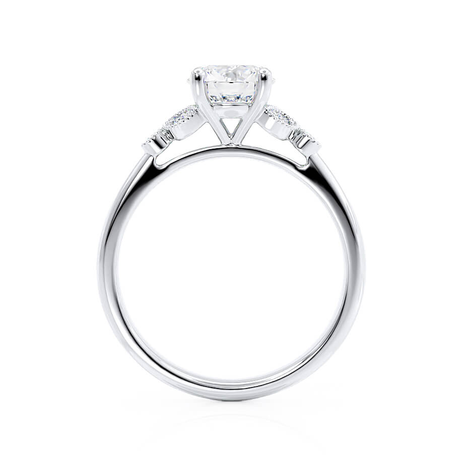 Lily Arkwright Engagement Ring DELILAH - Moissanite Platinum Shoulder Set Ring