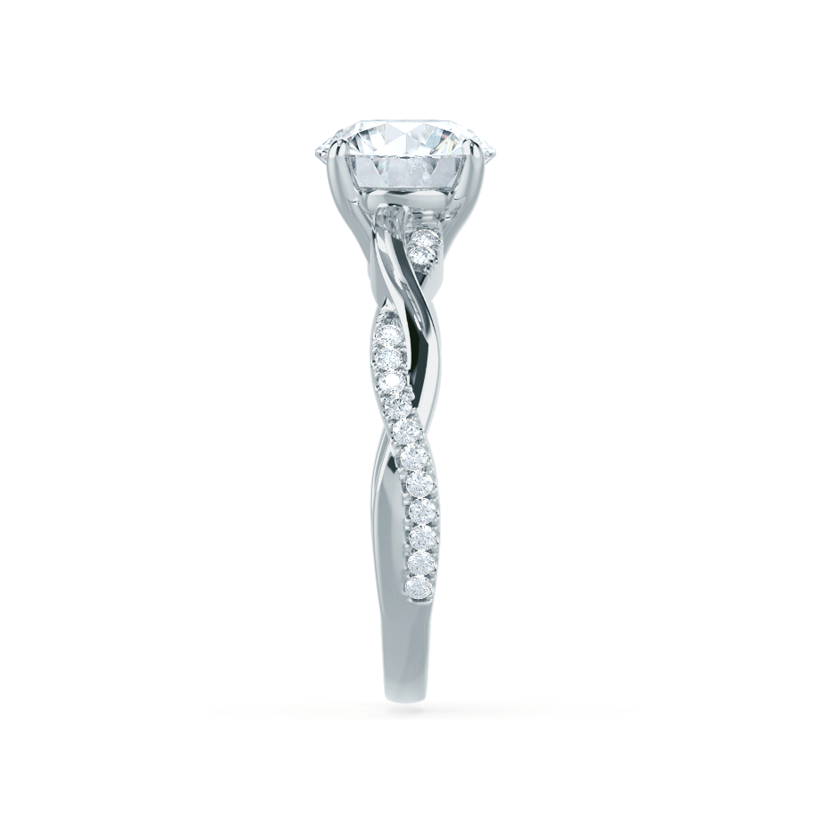 EDEN - Moissanite & Diamond 18k White Gold Vine Solitaire