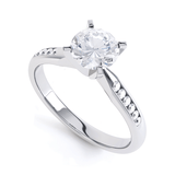 EVANGELINA - Round Moissanite 950 Platinum Channel Set Ring Engagement Ring Lily Arkwright