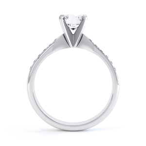 EVANGELINA - Moissanite Platinum Channel Set Ring