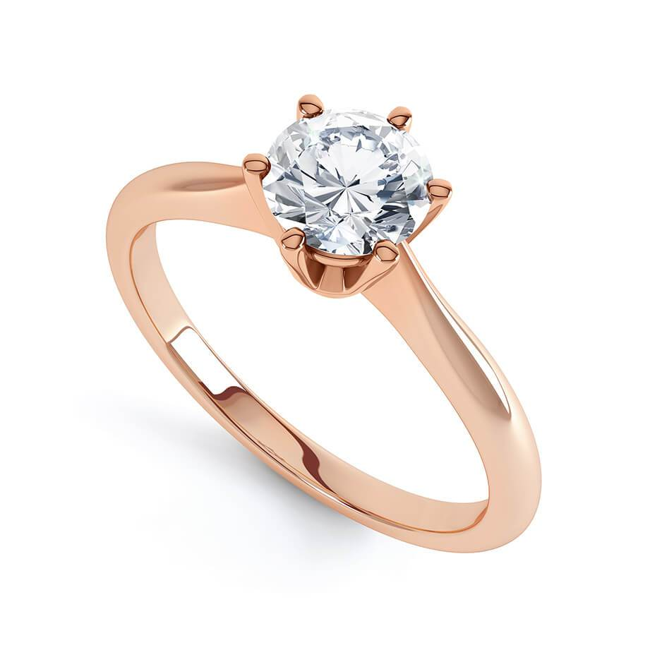 Lily Arkwright Engagement Ring GISELA - Knife Edge Moissanite 18k Rose Gold Solitaire Ring