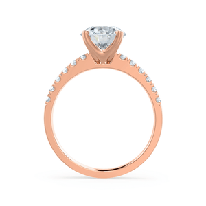 18k Rose Gold - GISELLE (Mount Only) Engagement Ring Lily Arkwright