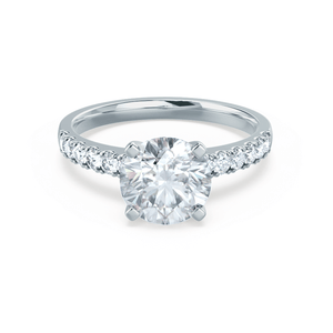 GISELLE - Certified Lab Diamond Shoulder Set Engagement Ring Lily Arkwright