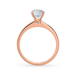 Grace Charles & Colvard Moissanite Solitaire 18k Rose Gold Ring
