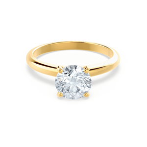 Grace Moissanite Solitaire 18k Yellow Gold Ring