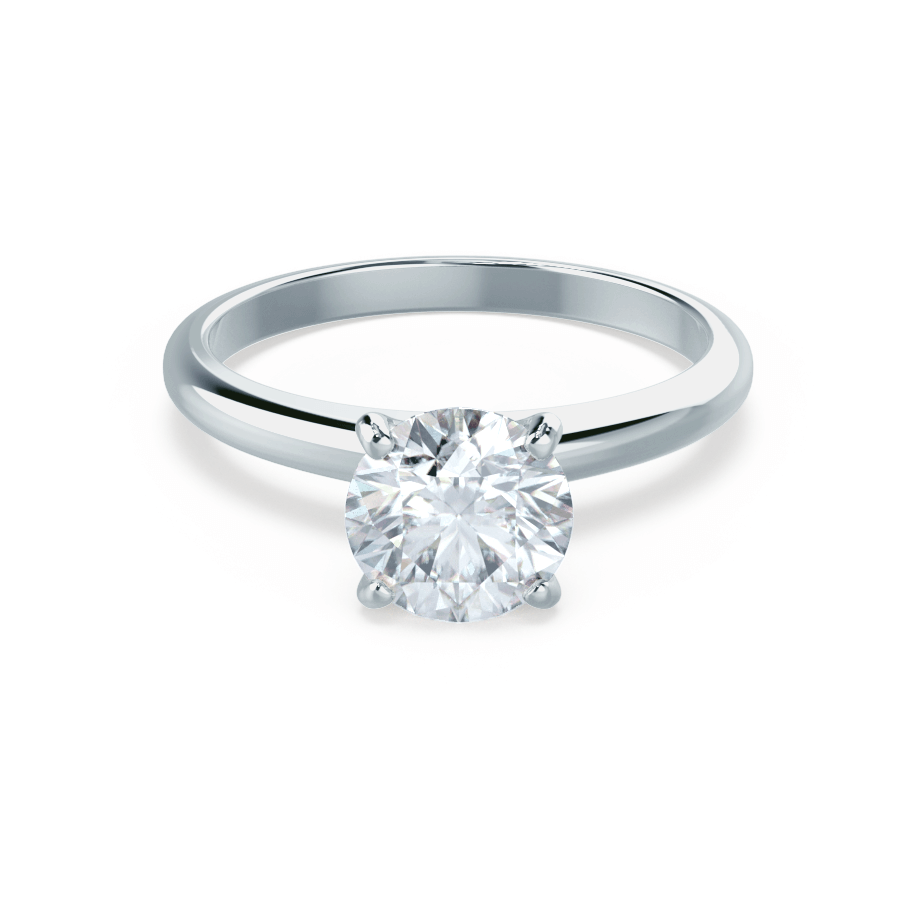 Lily Arkwright Engagement Ring GRACE - Moissanite Solitaire 18k White Gold Ring