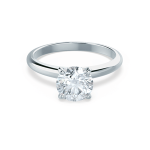 Grace Moissanite Solitaire 18k White Gold Ring