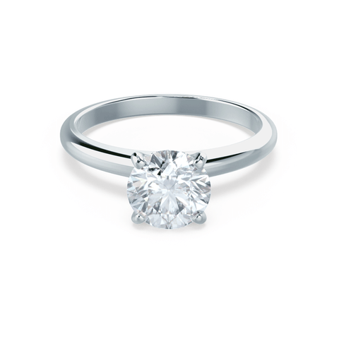 GRACE - Moissanite Solitaire 18k White Gold Ring