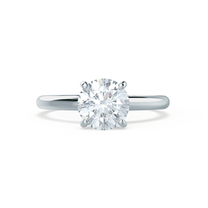 GRACE - Round Moissanite 950 Platinum Solitaire Ring Engagement Ring Lily Arkwright