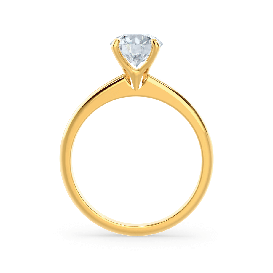 GRACE - Moissanite Solitaire 18k Yellow Gold Ring