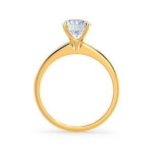 GRACE - Round Moissanite 18k Yellow Gold Solitaire Ring Engagement Ring Lily Arkwright