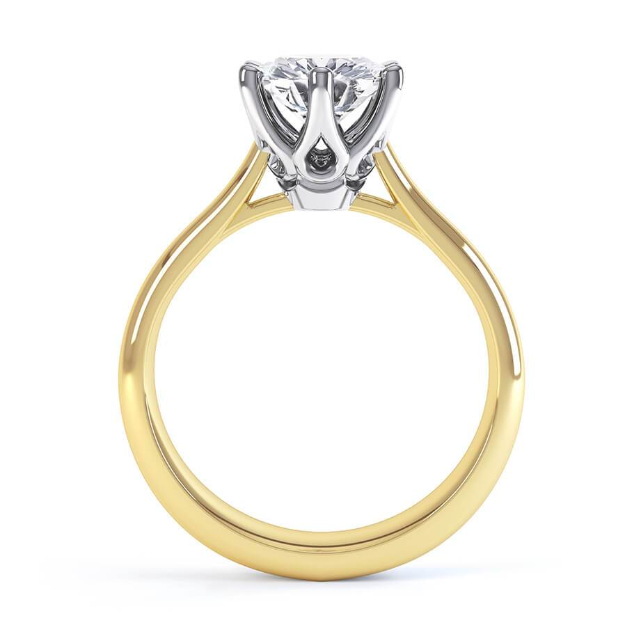 Harmony Charles & Colvard Forever One 18k Two Tone Gold Solitaire