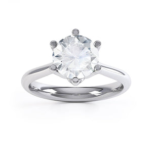 Lily Arkwright Engagement Ring HARMONY - Moissanite 18k White Gold Solitaire
