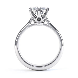 HARMONY - Round Moissanite 950 Platinum Solitaire Ring Engagement Ring Lily Arkwright