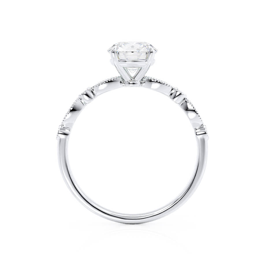 Hope Moissanite 18k White Gold Shoulder Set Ring