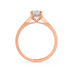Isabella Charles & Colvard Moissanite 18k Rose Gold Oval Solitaire Ring