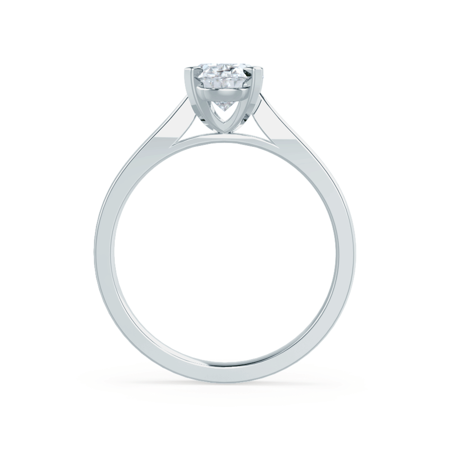 ISABELLA - Charles & Colvard Moissanite 18k White Gold Oval Solitaire Ring