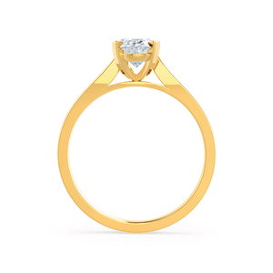 Isabella Charles & Colvard Moissanite 18k Yellow Gold Oval Solitaire Ring
