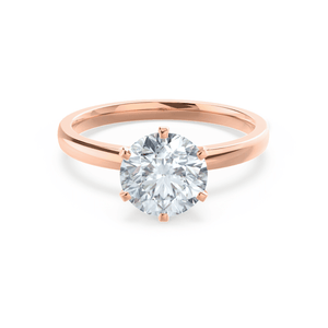 Juliet Charles & Colvard Moissanite 18k Rose Gold Solitaire Ring