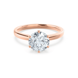 Juliet Moissanite 18k Rose Gold Solitaire Ring