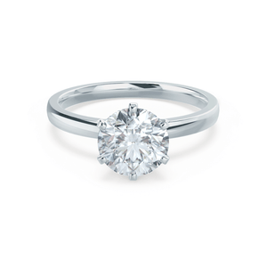 Lily Arkwright Engagement Ring JULIET - Moissanite 9k White Gold Solitaire Ring
