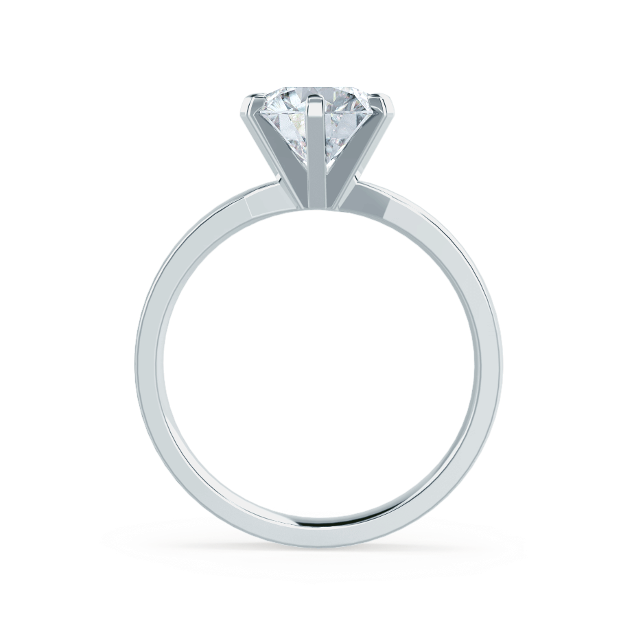 JULIET - Moissanite 18k White Gold Solitaire Ring