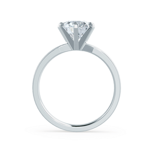 JULIET - Round Moissanite 950 Platinum Solitaire Ring Engagement Ring Lily Arkwright