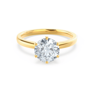 Juliet Charles & Colvard Moissanite 18k Yellow Gold Solitaire Ring