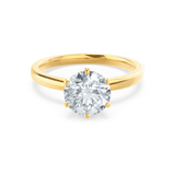 JULIET - Round Moissanite 18k Yellow Gold Solitaire Ring Engagement Ring Lily Arkwright