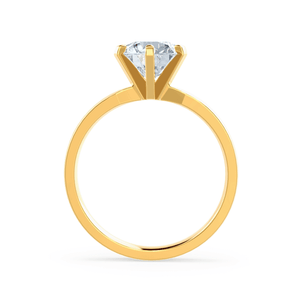 Juliet Moissanite 18k Yellow Gold Solitaire Ring