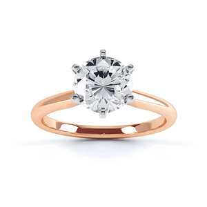 JULIETTA - Moissanite 18k Two Tone Rose Gold Solitaire