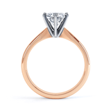 Lily Arkwright Engagement Ring JULIETTA - Moissanite Two Tone 18k Rose Gold & Platinum Solitaire