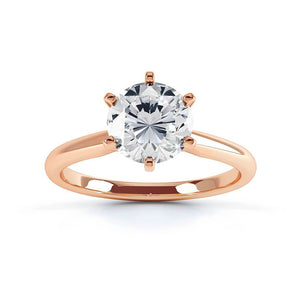Julietta Charles & Colvard Forever One 18k Rose Gold Solitaire