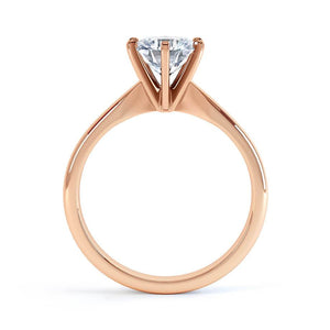 JULIETTA - Moissanite 18k Rose Gold Solitaire