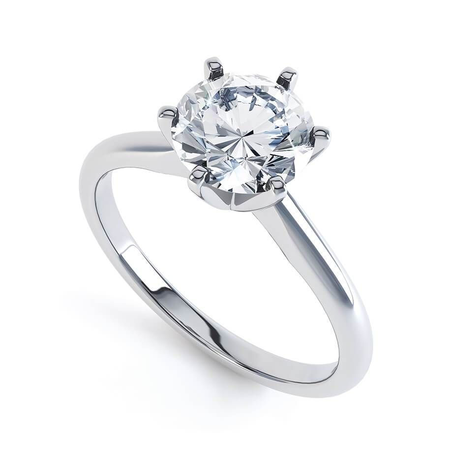 Lily Arkwright Engagement Ring JULIETTA - Moissanite 18k White Gold Solitaire
