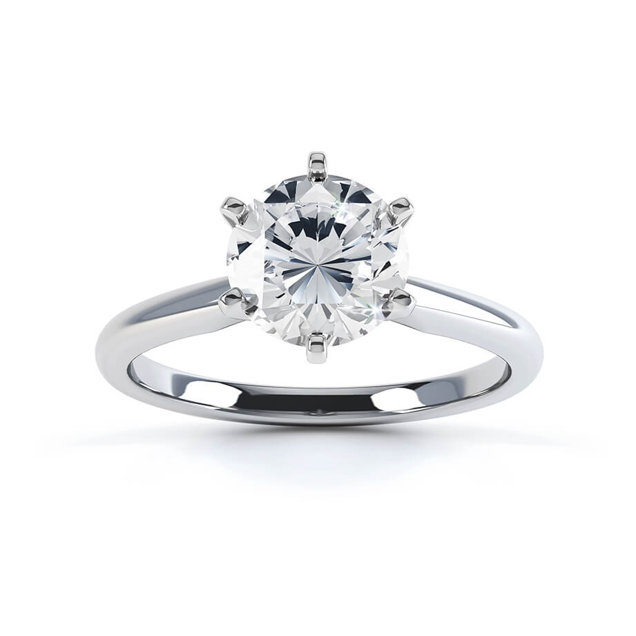 Lily Arkwright Engagement Ring JULIETTA - Moissanite 9k White Gold Solitaire