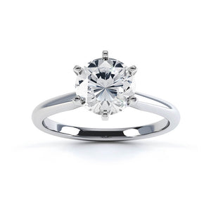 JULIETTA - Round Moissanite 950 Platinum Solitaire Ring Engagement Ring Lily Arkwright