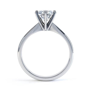 JULIETTA - Moissanite Platinum Solitaire