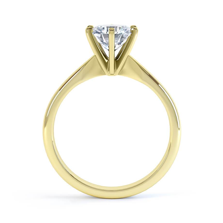 Lily Arkwright Engagement Ring JULIETTA - Moissanite 18k Yellow Gold Solitaire