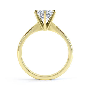 Julietta Charles & Colvard Forever One 18k Yellow Gold Solitaire