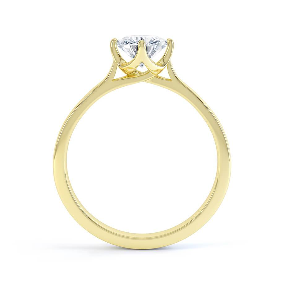 Juniper Charles & Colvard Forever One 18k Yellow Gold Solitaire