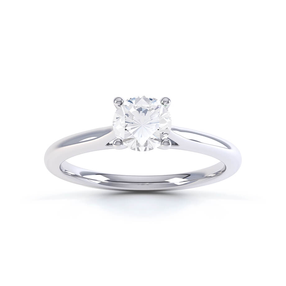 LAINARAE - Round Moissanite 950 Platinum Solitaire Ring Engagement Ring Lily Arkwright